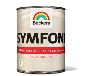 Beckers Symfoni Akrylat Lackfarg Satin 1L