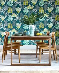 1-wallpaper-botanical-blue-green-emerald-yasuni-zapara-harlequin-style-library