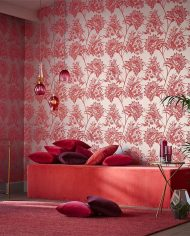 1-wallpaper-botanical-red-neutral-bavero-zapara-harlequin-style-library