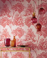 2-wallpaper-botanical-red-neutral-detail-bavero-zapara-harlequin-style-library