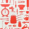 Graduate Collection – Airfix Kitchen Wallpaper – Red