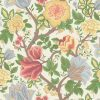 Cole & Son – The Pearwood Collection – Midsummer Bloom – 116/4013 – Chartreuse, Rouge & Leaf Green on Parchment