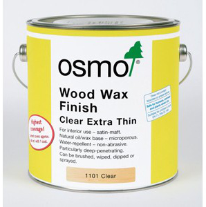 Osmo Wood Wax Finish Clear Extra Thin 750ml 4